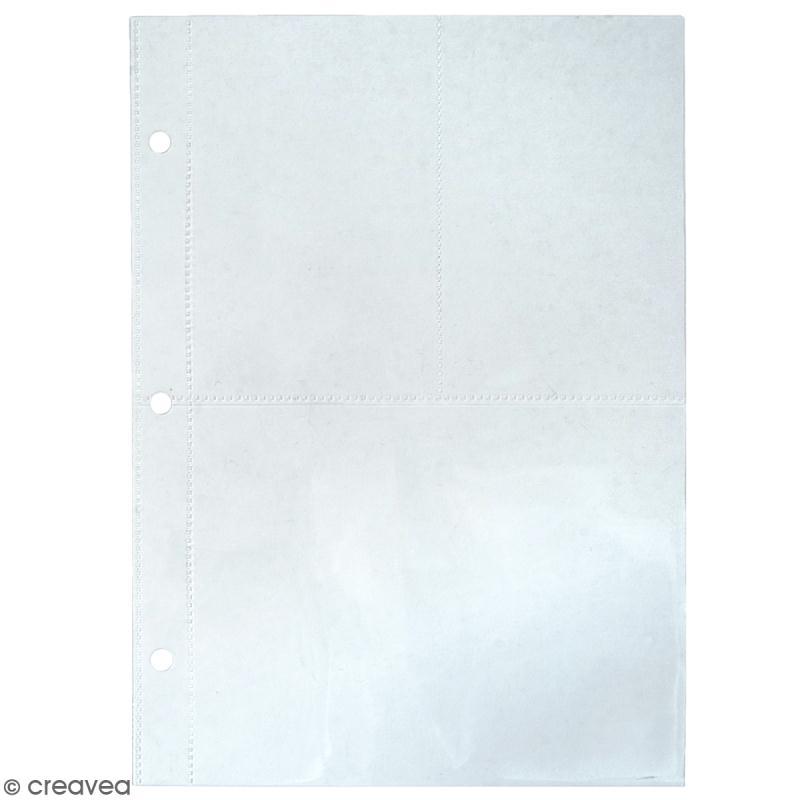 Kit pages My planner notes A5 - Pochette plastique 3 compartiments - 4 pcs - Photo n°1