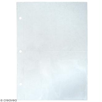 Kit pages My planner notes A5 - Pochette plastique 3 compartiments - 4 pcs