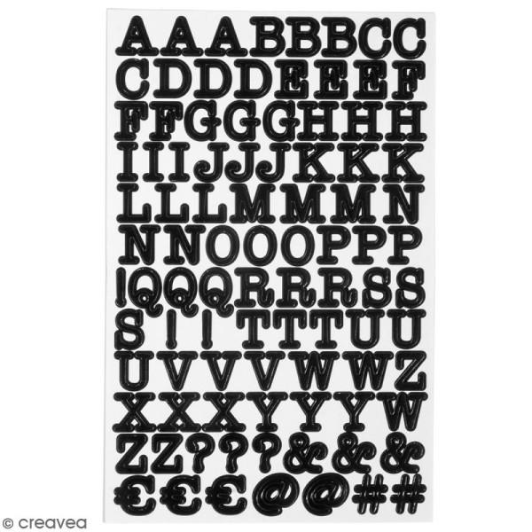 Stickers Alphabet et symboles - Noir - 380 stickers - Photo n°1