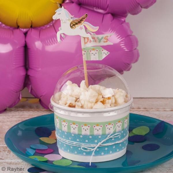 Washi tape Princesse ours blanc - 15 mm x 10 m - Photo n°2