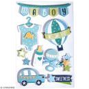 Stickers 3D Bébé garçon - 10 autocollants - Photo n°1