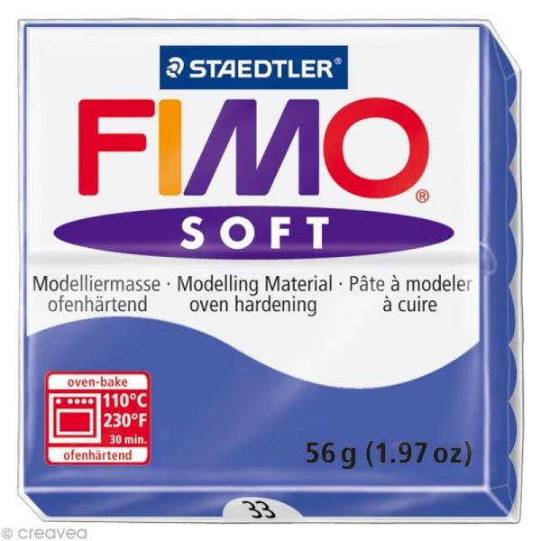 Pâte Fimo soft Bleu Brillant 33 - 56 gr - Photo n°1