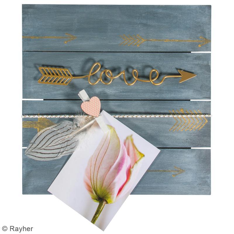 D co murale en m tal dor fl che love 24 cm 1 pce for Decoration murale fleche
