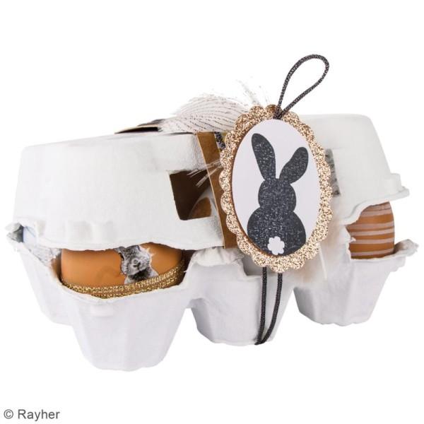 Kit oeufs de Pâques en plastique à décorer - 6 cm - 7 pcs - Photo n°2