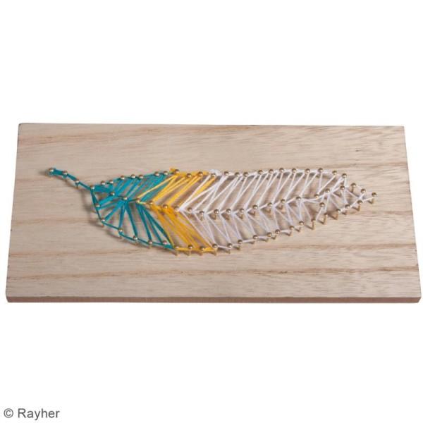 Kit tableau string art à clouer - Plume - 21 x 10 cm - Photo n°2