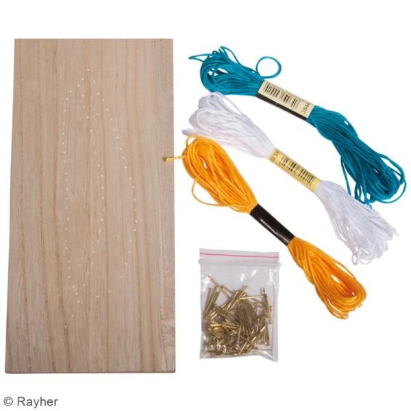 Kit tableau string art à clouer - Plume - 21 x 10 cm - Photo n°3