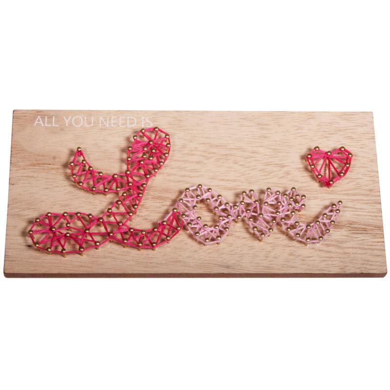 Kit tableau string art à clouer - Love - 21 x 10 cm - Photo n°2
