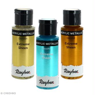 Peinture acrylique métallisée - Extreme Sheen Rayher - 59 ml