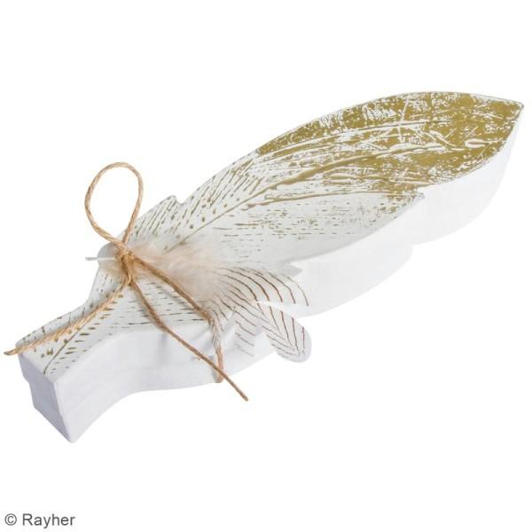 Boîte Plume en papier mâché - 28 x 8 cm - Photo n°2