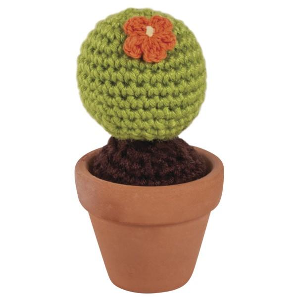 Kit crochet Rayher - Cactus boule - 4,5 cm - Photo n°2