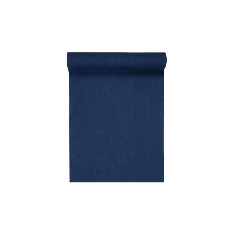 Chemin de table coton jean bleu 3 m chemin de table for Set de table coton