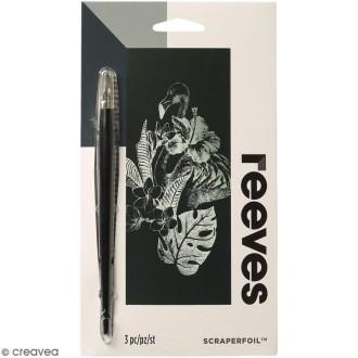 Carte à gratter Mini Reeves Argentée Toucan - 11 x 18 cm