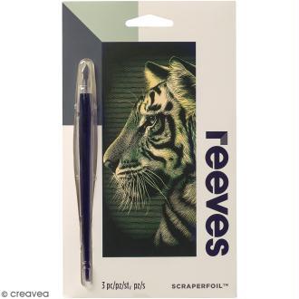 Carte à gratter Mini Reeves Dorée Tigre - 11 x 18 cm