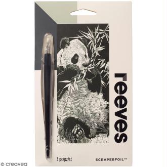 Carte à gratter Mini Reeves Argentée Panda - 11 x 18 cm