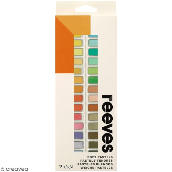 Pastels Secs tendres Reeves - Assortiment 34 couleurs - Photo n°1