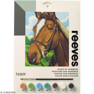 Peinture au numéro Junior Reeves - Cheval - 23 x 30,5 cm - 9 pcs