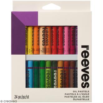 Pastels à l'huile Reeves - Assortiment 24 couleurs