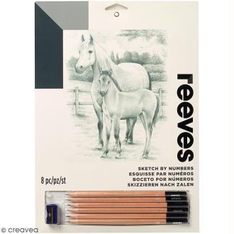 Dessin à étapes Reeves - Chevaux - 22,5 x 30 cm