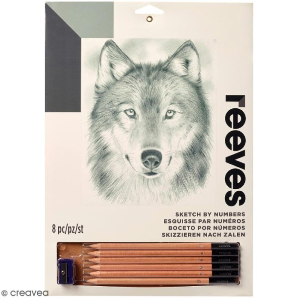 Coloriage Adulte Loup.Dessin A Etapes Reeves Loup 22 5 X 30 Cm Kit Coloriage Adulte