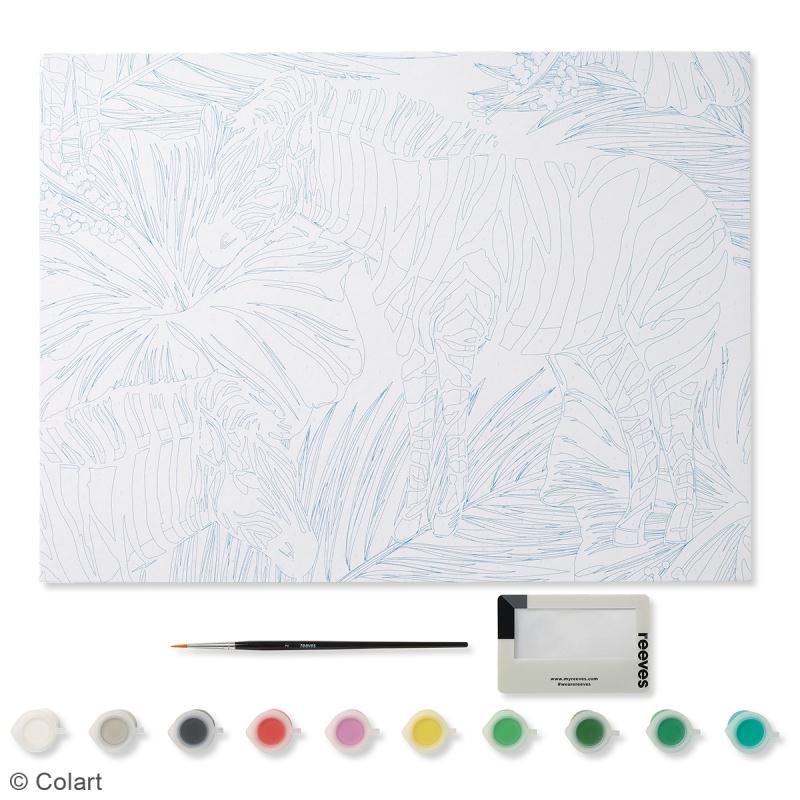 peinture au num ro adulte reeves z bre 40 x 30 cm 13 pcs peinture au num ro creavea. Black Bedroom Furniture Sets. Home Design Ideas