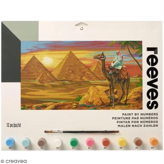 Peinture au numéro Adulte Reeves - Désert égyptien - 40 x 30 cm - 12 pcs