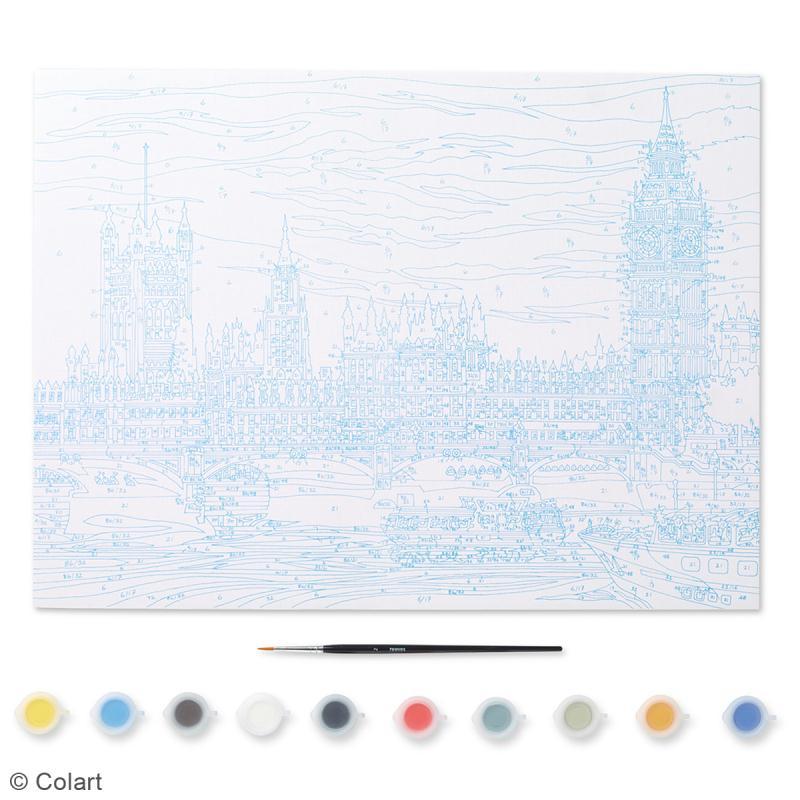 peinture au num ro adulte reeves palais de westminster 40 x 30 cm 12 pcs kit peinture. Black Bedroom Furniture Sets. Home Design Ideas