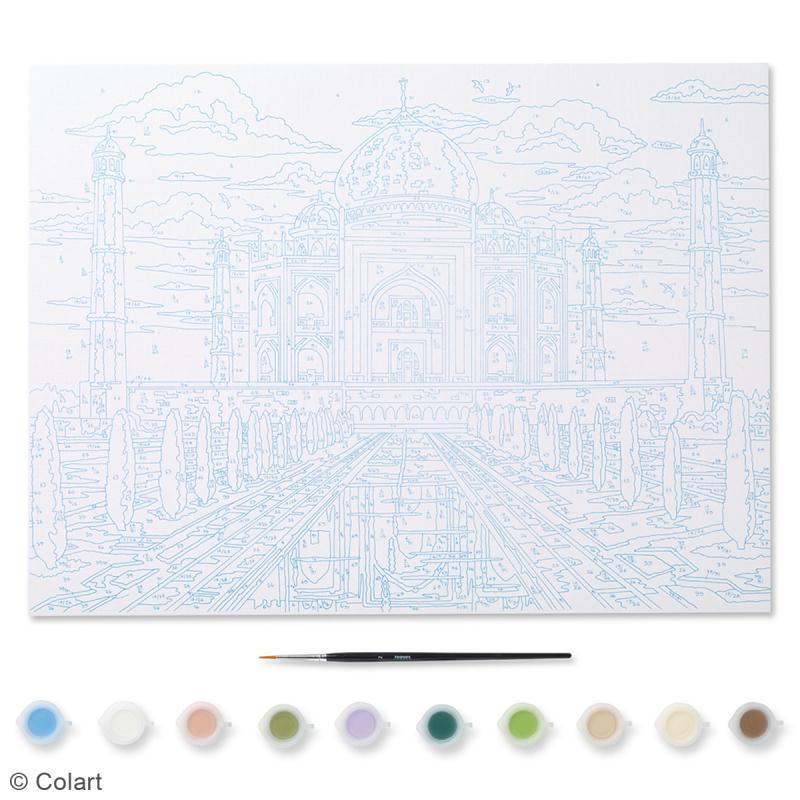 peinture au num ro adulte reeves taj mahal 40 x 30 cm 12 pcs kit peinture creavea. Black Bedroom Furniture Sets. Home Design Ideas