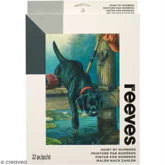 Peinture au numéro Adulte Reeves - Chien de pêcheur - 23 x 30,5 cm - 22 pcs