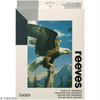 Peinture au numéro Adulte Reeves - Aigle royal - 23 x 30,5 cm - 22 pcs