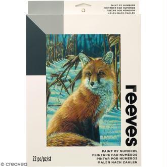 Peinture au numéro Adulte Reeves - Renard roux - 23 x 30,5 cm - 22 pcs