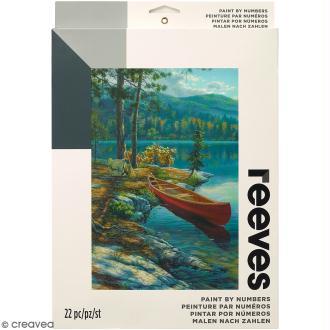 Peinture au numéro Adulte Reeves - Lac - 23 x 30 cm - 22 pcs