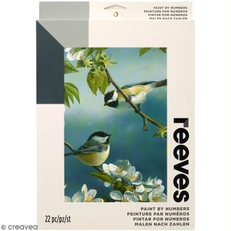 Peinture au numéro Adulte Reeves - Moineaux - 23 x 30,5 cm - 22 pcs