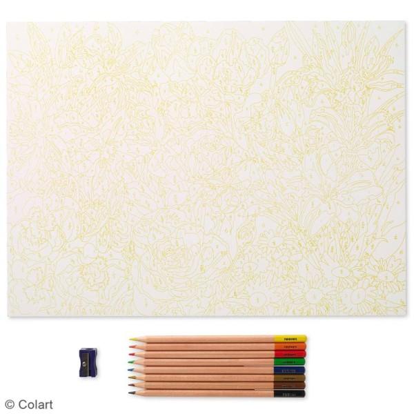 Coloriage Au Numéro Reeves Fleurs 40 X 29 5 Cm