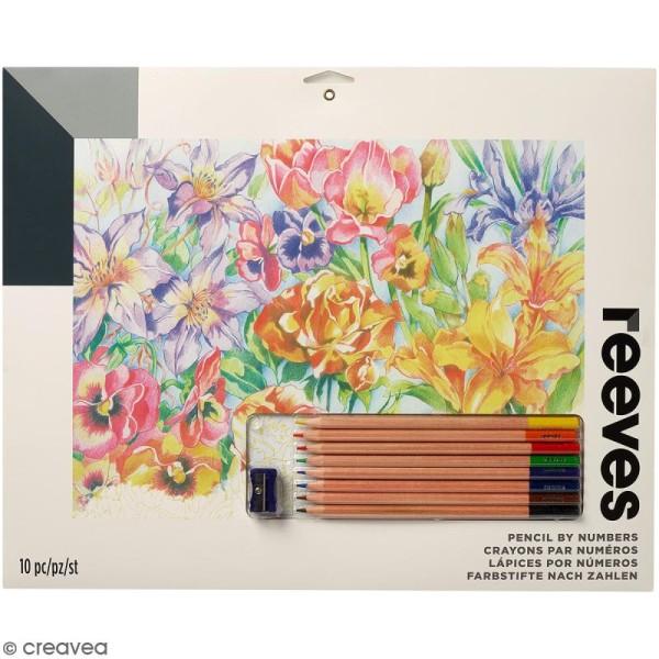 Coloriage Fleur Doranger.Coloriage Au Numero Reeves Fleurs 40 X 29 5 Cm Kit Coloriage