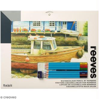 Aquarelle au numéro Reeves - Bateaux - 40 x 29,5 cm