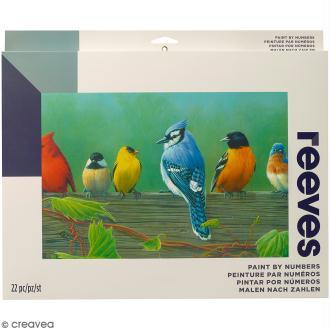 Grande Peinture au numéro Adulte Reeves - Oiseaux - 40,5 x 30,5 cm - 22 pcs