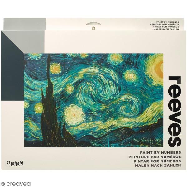 Grande Peinture au numéro Adulte Reeves - La nuit étoilée (Van Gogh) - 40,5 x 30,5 cm - 22 pcs - Photo n°1