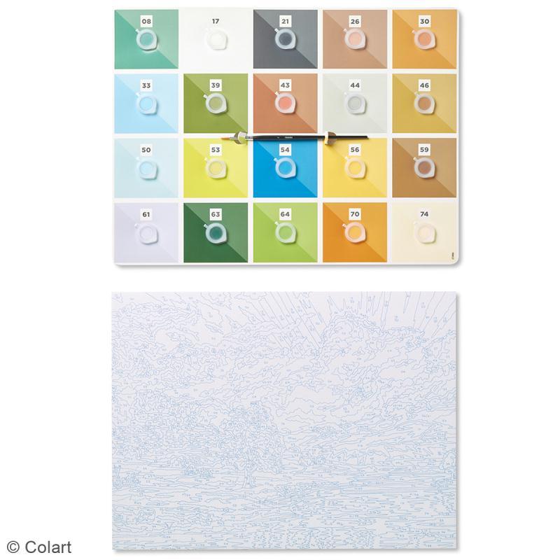 grande peinture au num ro adulte reeves lever de soleil 40 5 x 30 5 cm 22 pcs kit. Black Bedroom Furniture Sets. Home Design Ideas
