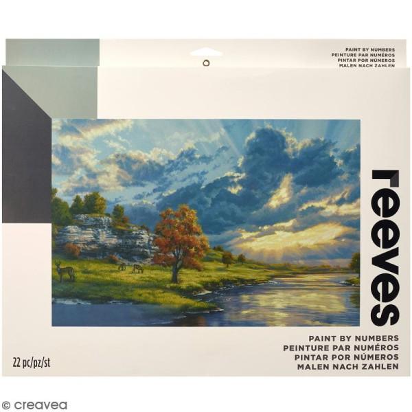 Grande Peinture au numéro Adulte Reeves - Lever de soleil - 40,5 x 30,5 cm - 22 pcs - Photo n°1