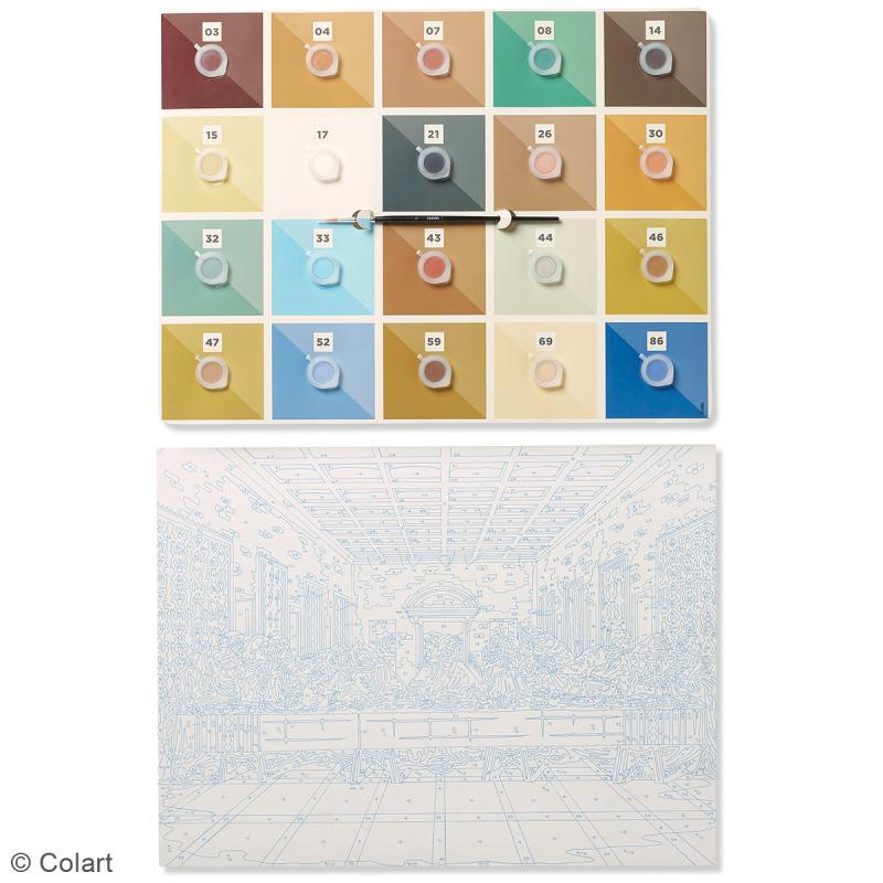 grande peinture au num ro adulte reeves la c ne de vinci 40 5 x 30 5 cm 22 pcs kit. Black Bedroom Furniture Sets. Home Design Ideas