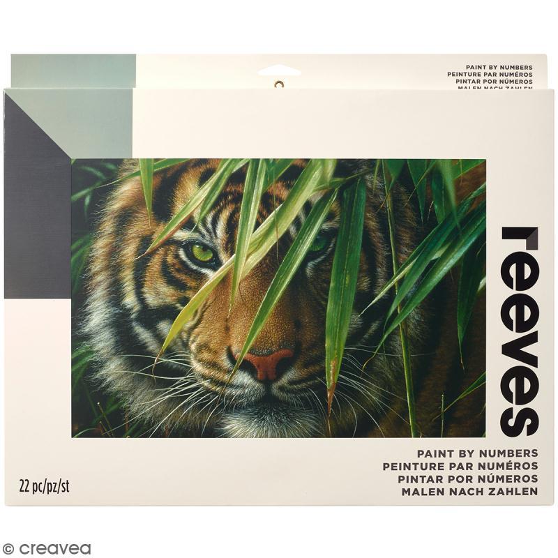 Grande Peinture au numéro Adulte Reeves - Tigre - 40,5 x 30,5 cm - 22 pcs - Photo n°1