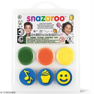 Mini Kit maquillage tampon - Smiley anniversaire - 6 pcs