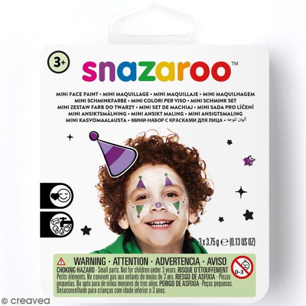 Mini Kit modèle maquillage enfant - Clown - Photo n°1