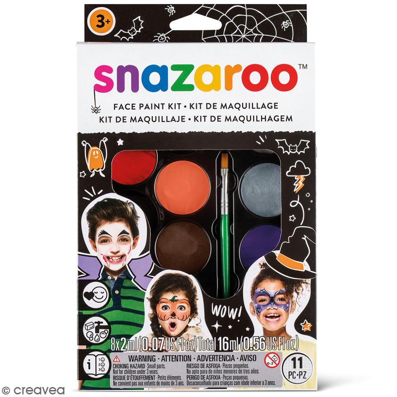 palette maquillage halloween snazaroo 11 pcs kit. Black Bedroom Furniture Sets. Home Design Ideas