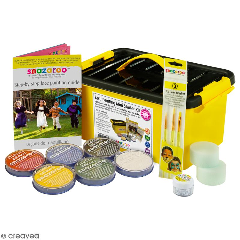 Boîte maquillage Snazaroo - Kit starter - 14 pcs - Photo n°1