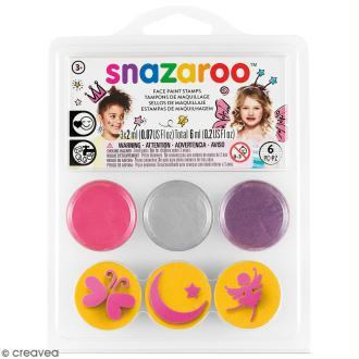 Mini Kit maquillage tampon - Princesse - 6 pcs