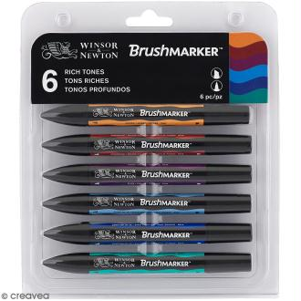 Feutres à alcool BrushMarker - Tons riches - 6 pcs