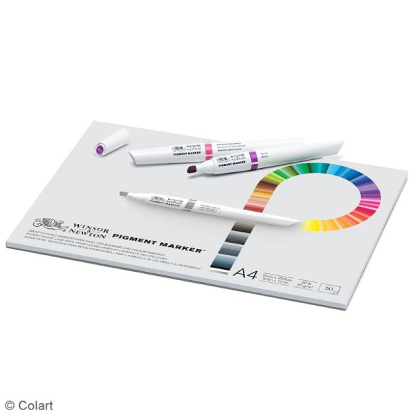 Bloc papier spécial PigmentMarker A4 - 75 g/m² - 50 pcs - Photo n°2