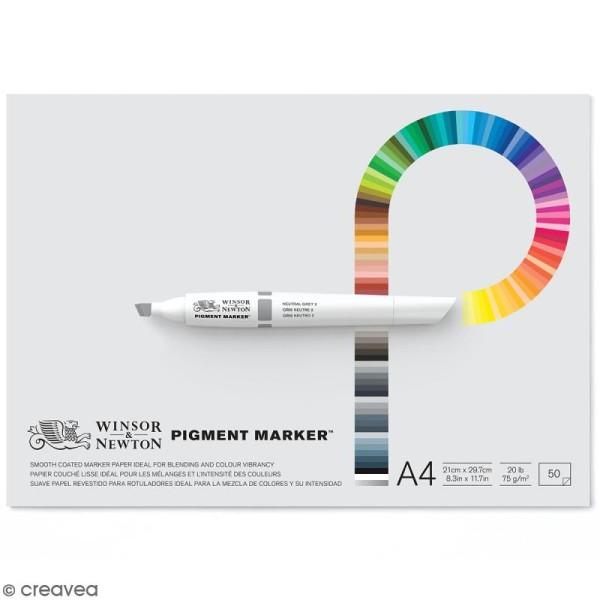 Bloc papier spécial PigmentMarker A4 - 75 g/m² - 50 pcs - Photo n°1