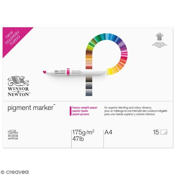 Bloc papier spécial PigmentMarker A4 - 175 g/m² - 15 pcs - Photo n°1